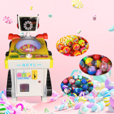 New Coin Operated Kids Prize Candy Game Machine, Lollipops Vending Machine Game For Sale