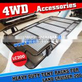 CHINA POWDER COATED STEEL 4X4 ROOF CAGE ROOF RACK FOR TOYOTA LAND CRUISER FJ200 ARB STYLES