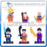 Mini Qute DECOOL 6pcs/set Anime Cartoon model Dragon Ball goku building block action figure educational toy NO.701-706