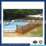 Aluminum Wood Color Swimming Pool Fence Wooden Pool Fencing