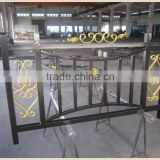 galvanizing light golden color acrylic painting balcony railing designs