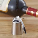 Stainless steel vacuum extraction fresh red wine cork stopper silicone wine bottler stopper with handle champine stopper