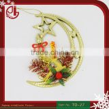 Gold Christmas Moon Design Christmas Ornament With Stars Reindeer Tree Decorations Baubles Party Shinning Star