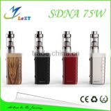 LeZT 2016 Smy Newest Authentic Smy SDNA75 75W SDNA75 mod Temp Control Box Mod with genuine Evolv dna75 chip