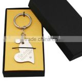 BEAUTIFUL LOVE WORD HEART DECORATIVE KEY FOB CHAIN TIBETAN SILVER ALLOY CHARM Best quality metal love alloy keychain