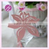 2016 new design paper mandarin duck table wedding decoration laser out place card for wine glass JK-70
