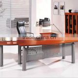 portable furniture design wood top steel legs desk office table size(SZ-ODT605)