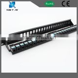Empty patch panel, 24 Port 1U Keystone Jack Snap in Blank Panel for Cat5e Cat6 RJ45 19 inch