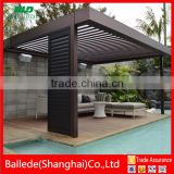 custom sun shade waterproof pergola with rain sensor