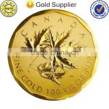 china wholesale coin Metal crafts old gold coin challenge coin cheap price