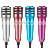 2016 hot selling smartphone accessories mini microphone for mobile phone,colorful microphone for computers.A107