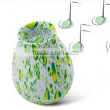 fresh lemon style NFC speakers green pattern wireless speakers phone sound