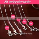 Woman birthday gift snake two color 925 sterling silver chain
