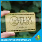 China metal business card blank