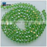 3mm crystal wholesale beads high quality silicone glass beads in bulk faceted rondelle beads for selling