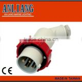 440v 4 pin connector 3P+E waterproof electric watertight male female made taiwan 4 pin marine plug