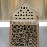 BSCI factory nature wooden insect house,bee house with stick,ladybird hotel