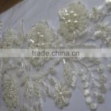 New Flower Design Nylon Milk Silk Indian Lace Fabrics Embroidery Guipure Lace Fabric To Export/Material popular chemical lace
