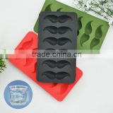 2016 Hot Sale Ice Cube Ice Summer Drinking Tool Tray Mold Makes Ice Beard Shape Mould Novelty Gifts Ice Tray