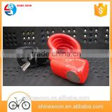 Bike Lock Cable, Self Coiling Resettable Alarm Cable Bike Locks with Free Mounting Bracket