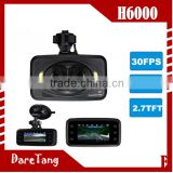 factory direct 2.7 inch 720p with built-in G-sensor 360 degree view angle3 lens manual car camera hd dvr