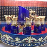 2016 new hight quality products promotional gift 12 Animal Zodiac Blue Ceramic wine cups