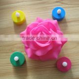 multicolor plastic battery operated led tea light candles