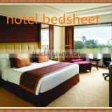 2014 Hot sales 100% Polyester hotel bedsheet fabric made in china