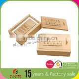 Excellent newest design gift packaging usb wood box