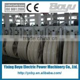Galvanized steel frame three nylon wheels electric cable pulley