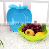 Apple Shape Fruit Plate Candy Color Plastic Fruit Tray