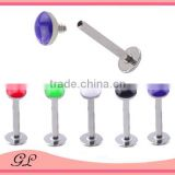 Hot sell stainless steel flower labret studs