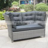 stacking rattan mini sofa, loveseat, high back sofa furniture, plastic rattan lounger sofa
