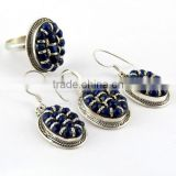 Trade Secret !! Lapis 925 Sterling Silver Jewelry Set, Silver Jewelry, Gemstone Silver Jewellery