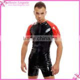 Wholesale Tight Body Shaper Men Sex Leather Catsuit