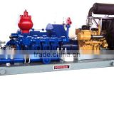 Mud pump package for oil exploration