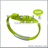 Creative Android phone data cable charging cable Universal USB charging treasure bangle bracelet for iphone 6 / 5 / 5s