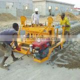 QMY4-45 latest construction products mobile widly used concrete hollow block making machine for sale