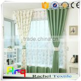 Linen cotton printed fabric Korean style floral pattern for light living room curtain, table cloth