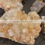 Natural Rock Clear Citrine Quartz Crystal Drusy Cluster For Sale