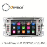 Ownice Android 4.4 Car video for Ford focus 2 Mondeo S-max with GPS Navigation Stereo WIFI 3G Bluetooth DVD