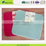 Square shape pure color dinning table decoration dish drying bamboo mat