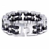 hot sale jewelry for men 316l stainless steel bike motorcycle chain bracelet