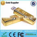 Promotional item usb gold bar shaped promotional usb stick wholesale cheap pen drive