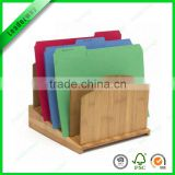 High quality bamboo five layer stationery file holder for office