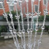China Hot Sale Clear Acrylic Crystal Beaded Curtain For Wholesale Plastic Factory Making
