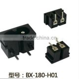 Hot selling electrical socket IEC 320 C8 power connector BX-180-H
