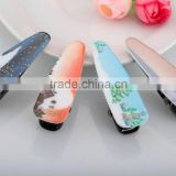 Beautiful scenery hair clip wholesale kids alligator mini hair clip hot sale chrismas hair accessory