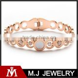 2016 Fancy stainless steel rose gold crystal bangel cuff wedding jewelry for women