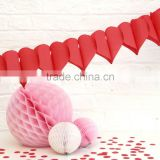 Red Paper Heart Garland HEART PAPER GARLAND BANNER BUNTING HANGING PARTY DECORATION TISSUE